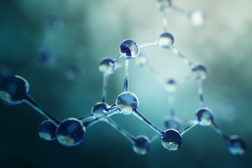 Upclose photo of a molecule.